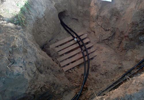 Ввод в дом труб под фундаментом