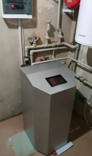 Установленный тепловой насос Geosun